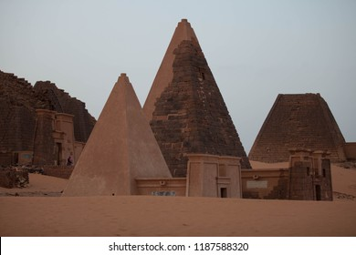 Nubian pyramids are pyramids that were built by the rulers of the ancient Kushite kingdoms.  The area of the Nile valley known as Nubia, which lies within present day Sudan, was home to three Kushite
