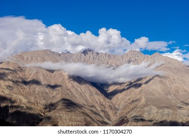 Nubra Valley with Cloudy Blue sky mountain