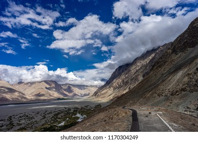 Nubra Valley view from Diskit Gompa Shyok river