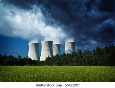 Nuclear danger, power station, climate change.