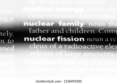 nuclear fission word in a dictionary. nuclear fission concept.