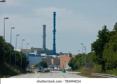 Nuclear fuel reprocessing plant - La Hague, France, Europe