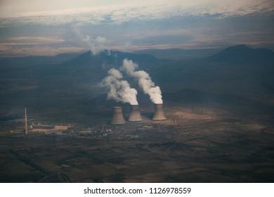 Nuclear power Energy concept