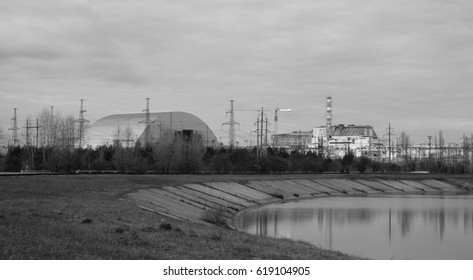 The Nuclear Power Plant in Chernobyl with new sarcophagus