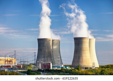 Nuclear power plant at day