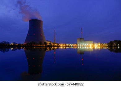 Nuclear power plant Ohu near Landshut, Bavaria, Germany