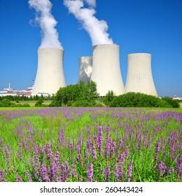 Nuclear power plant Temelin in Czech Republic, Europe