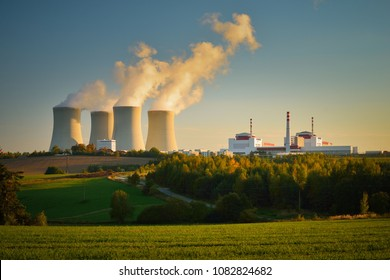 Nuclear Power Plant Temelin in South Behemia Czech Republic