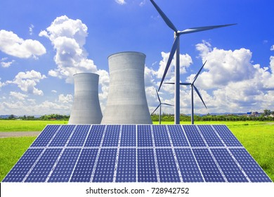 Nuclear power plants, photovoltaic power generation and wind power generation, jointly solve future energy shortage