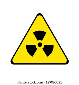 Nuclear radiation warning sign.