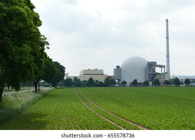 Nuclear reactor, Nuclear power plant (NPP) Grohnde, district Hameln, Lower Saxony, Germany