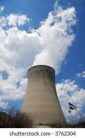 Nuclear Reactor w/ American Flag