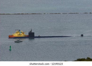 Nuclear Submarine leaving the Harbor
