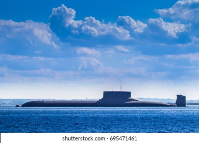 Nuclear submarine. Warships.