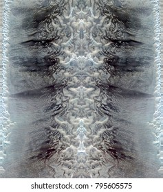 nuclear war, Tribute to Dalí, abstract symmetrical vertical photograph of the deserts of Africa from the air, aerial view, abstract expressionism, mirror effect, symmetry, kaleidoscopic