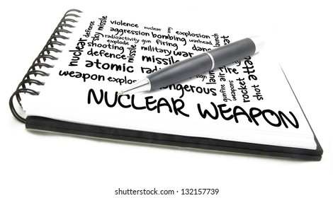 nuclear weapon word cloud on notes