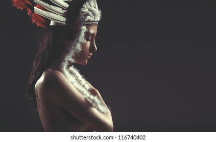 nude American Indian girl Pocahontas