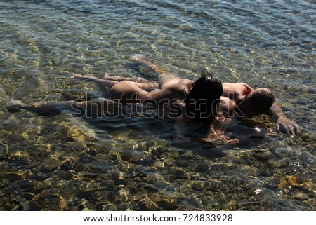 Families at beach Sexy nude