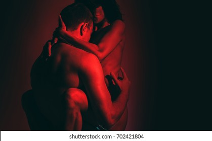 Nude couple. Passionate couple kissing, boy and girl. Having sex. Young lovers. People in love. Positions kamasutra. Erotic moments. Concept photo. Secret. Fashion. Hot babe. Party. Night background.