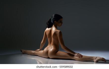 nude boobs on glass gif