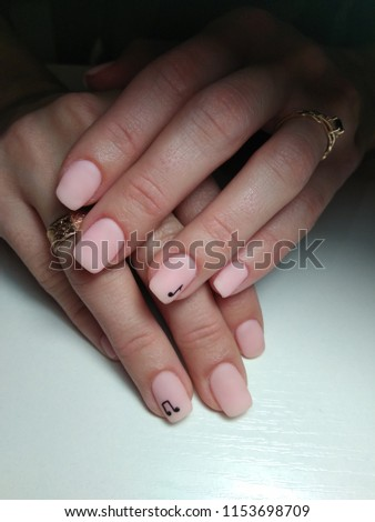 Nude Nails Design Covered Matte Top Stock Photo (Edit Now ...