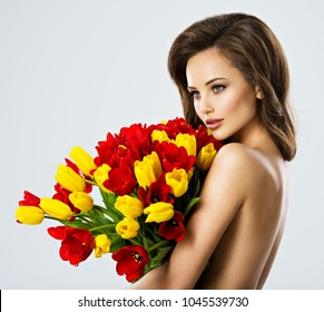 tulips models Naked