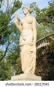 Nude statue at Palau Reial de Pedralbes, Barcelona, Spain