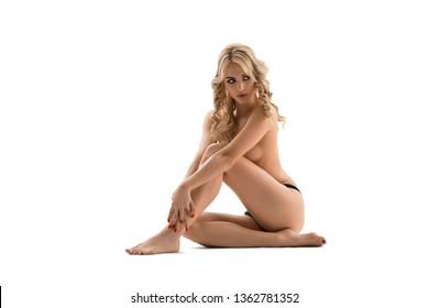 Nude woman looking away