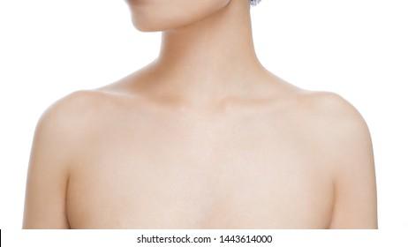 Nude woman shot back sholder