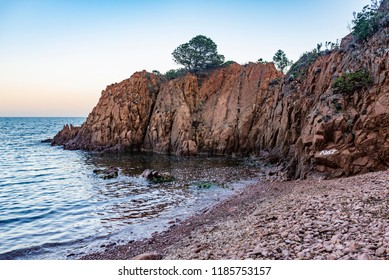 Nudist beach, Cap Roux, Saint Raphael, France
