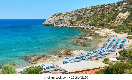 Nudist beach near Faliraki at Rhodes island