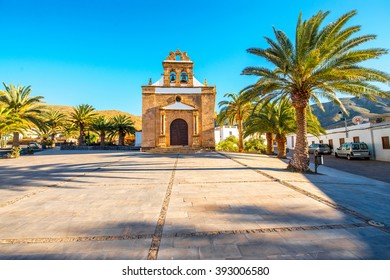 Nuestra Senora de la Pena church near Betancuria village on Fuerteventura island in Spain