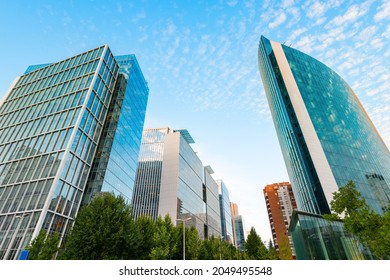 Nueva Las Condes, the new financial district in Santiagode Chile, home of top high end corporate buildings at Alonso de Cordova street.