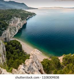 Nugal beach in Makarska, Croatia.