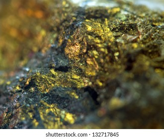 Nugget. Precious metals, Crystals background with stone structure. Macro