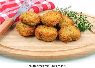nuggets on a cutting board