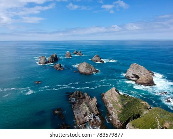 Nuggets point in New Zealand