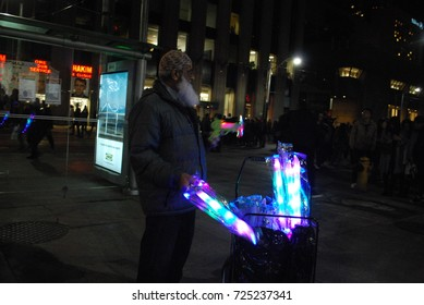Nuit Blanche 2017 - Glowing Light, Toy Vendor - Toronto, CANADA - September 30 2017