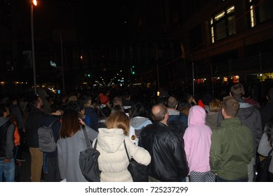 Nuit Blanche 2017 - People In Street, Crowd - Toronto, CANADA - September 30 2017