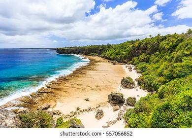 Nuku'alofa, Tonga. Rugged shores of Nuku'alofa, Tonga.