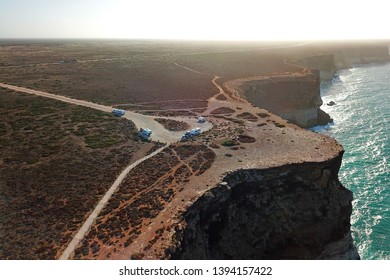 Nullarbor Cliffs and parking area