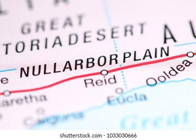 Nullarbor Plain. Australia on a map