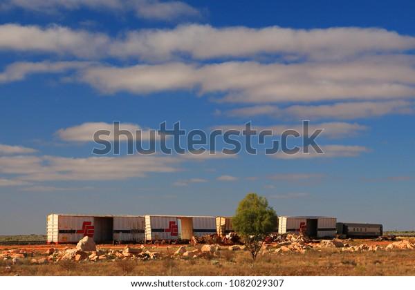 Nullarbor Plain Western Australia Australia April Stock Photo (Edit