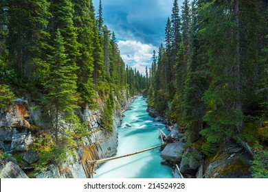 Numa Falls at the Vermillion River Canyon in the Kootenay National Park Canada
