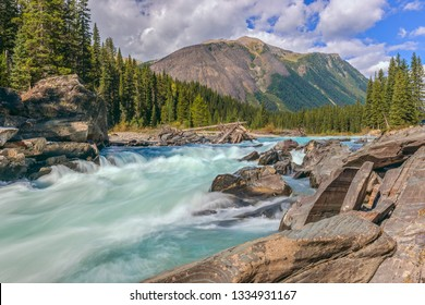 Numa falls and the Vermillion river in Kootenay National Park. British Columbia. Canada