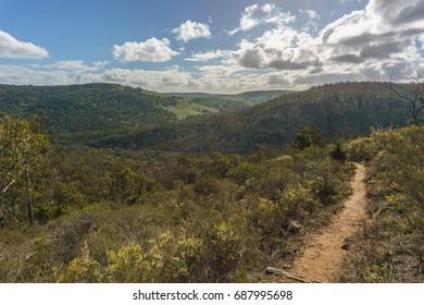 Numbat circuit, Hiking trail in Paruna Wildlife Sanctuary, Avon valley, Western Australia