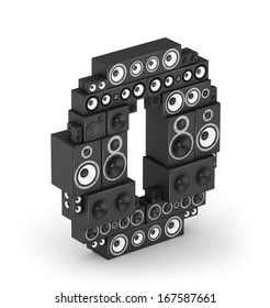 Number 0 from black woods hi-fi speakers sound systems in isometry