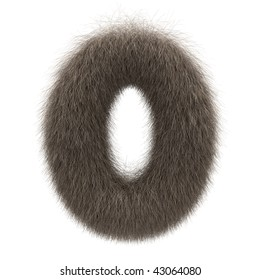Number 0 from fur alphabet