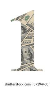 Number 1 (dollars background)
