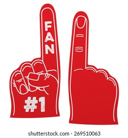 Number 1 fan foam hand